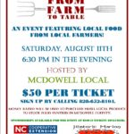 From Farm to Table flyer image