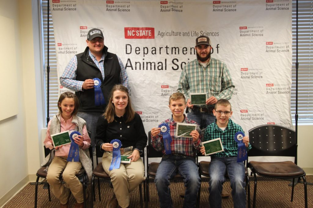 Livestock youth with awards