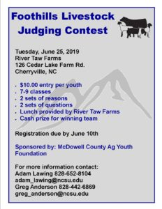 Cover photo for 2019 Foothills Livestock Judging Contest