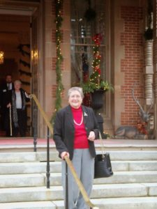 Sue Glovier at NC Governor's mansion in Raleigh