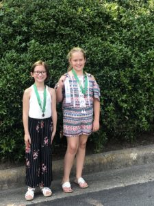 Image of girls with medals
