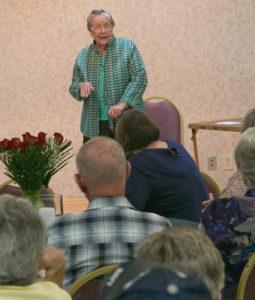 Sue Glovier presenting