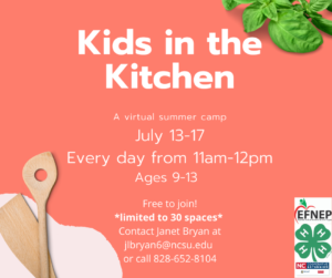 Cover photo for Kids in the Kitchen Summer Program