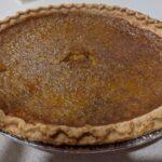 pumpkin pie made from candy roaster