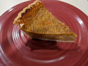 pumpkin pie slice made from candy roaster