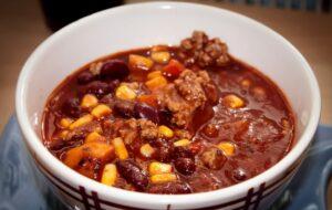 bean & butternut chili