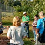 Master Gardener teaching at demo garden.
